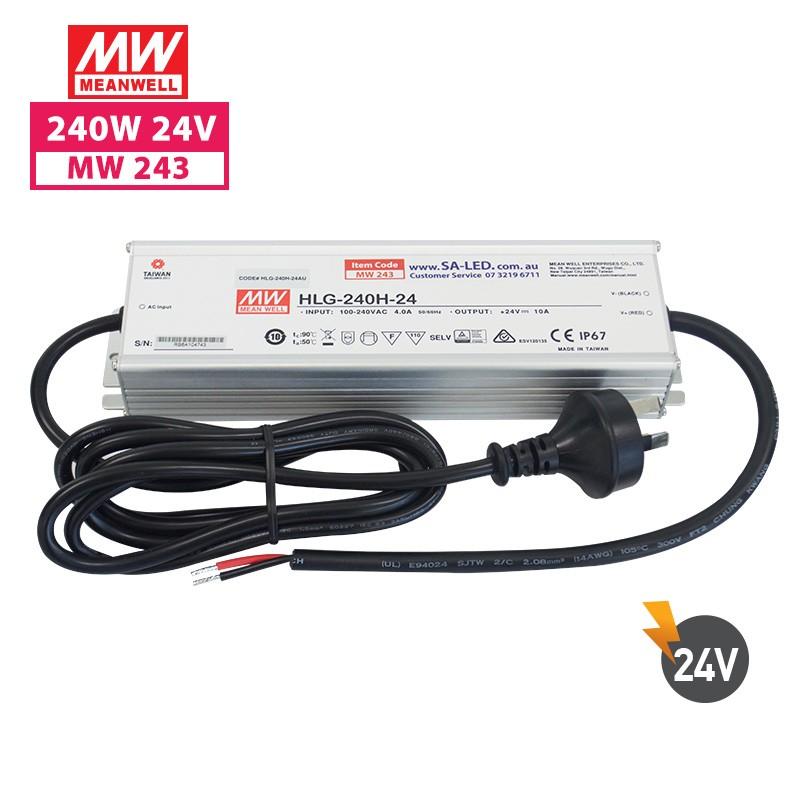 SA HLG 240H 10A 24V with 3 pin plug