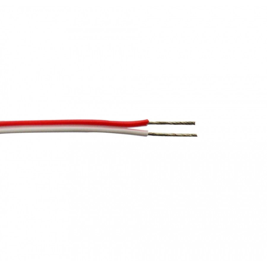LED WIRE UL 18AWG RED WHITE(50M/Roll)