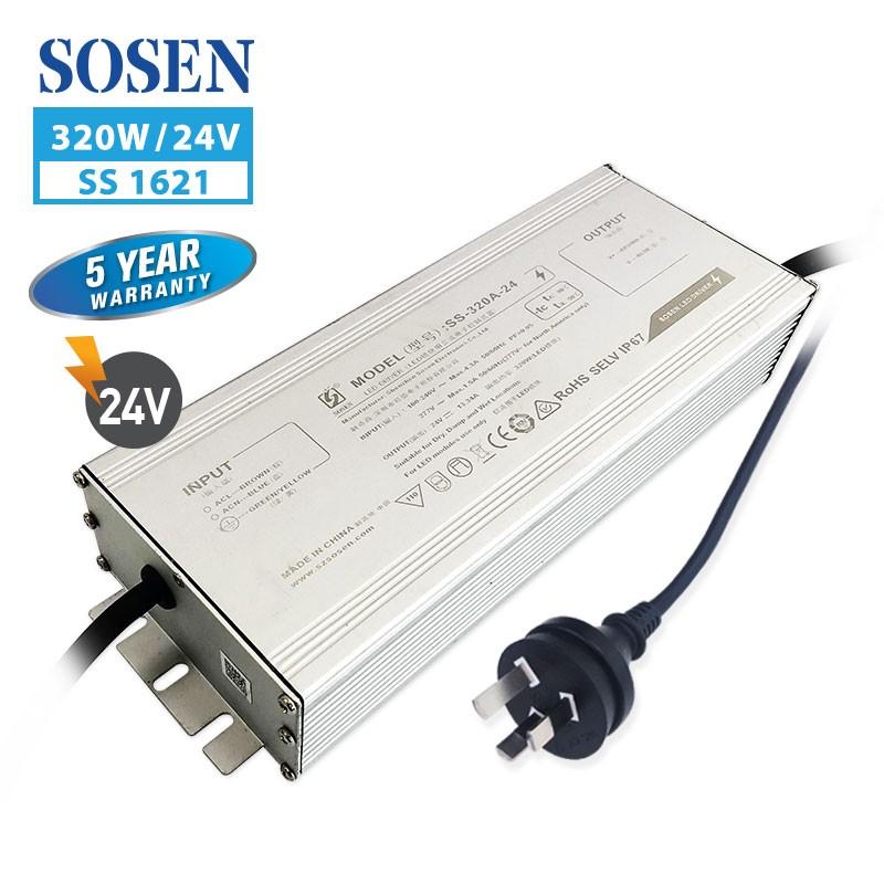 SA SS 320W 13.34A 24V with 3 pin plug